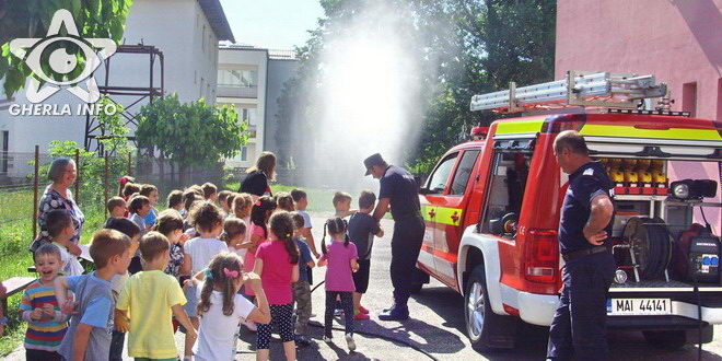 gradinita veseliei gherla pompieri dej simulare incendiu