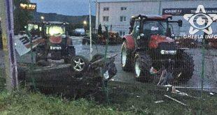 accident bontida masina rasturnata