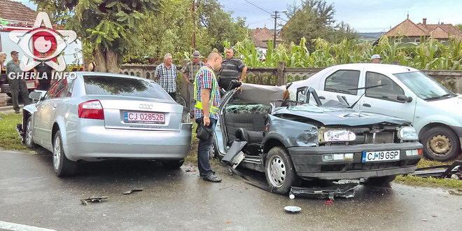accident gherla strada mintiuliu volkswagen audi