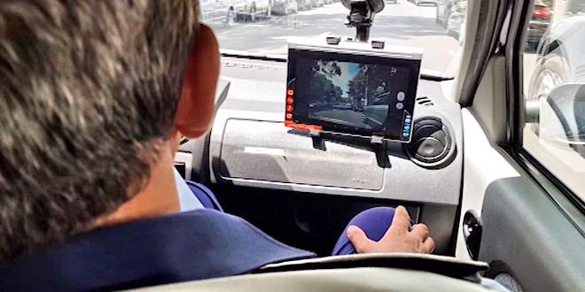 examen conducere permis proba practica filmare politie