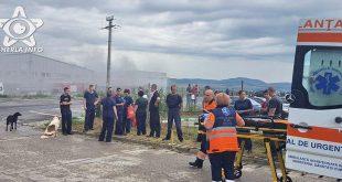 incendiu dej cortusa muncitori fabrica ambulanta pompieri