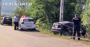 accident fizesu gherlii politie opel stalp masina
