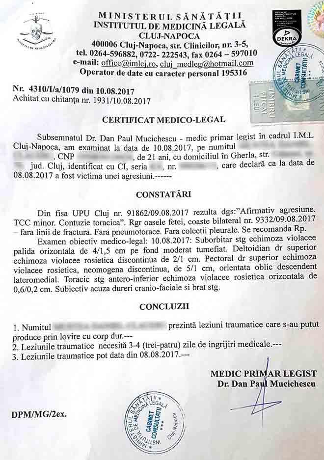 iml certificat medico legal
