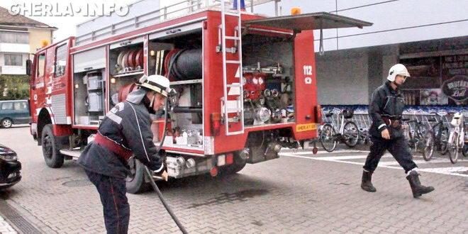 pompieri lidl gherla dej simulare incendiu