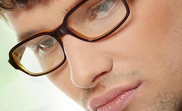 barbat ochelari