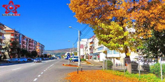 gherla octombrie strada clujului toamna