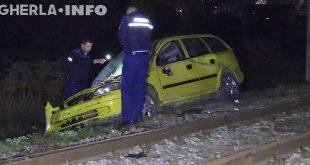 politie masina lovita tren jucu cluj