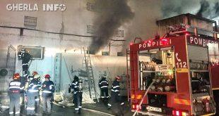 incendiu cluj bloc pompieri str berariei