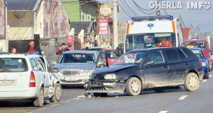 accident gherla volkswagen ambulanta str dejului