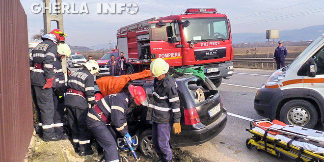 accident gherla pompieri dej