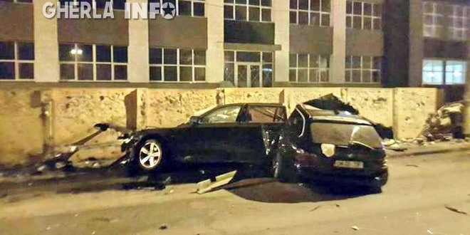 accident cluj bmw rupt in doua