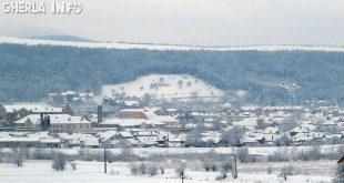 gherla iarna zapada panorama