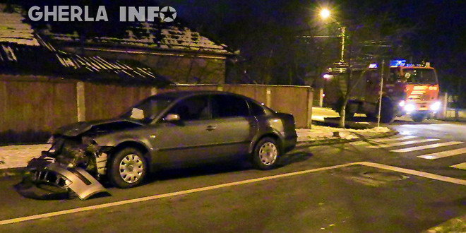 accident gherla strada mintiului volkswagen pompieri