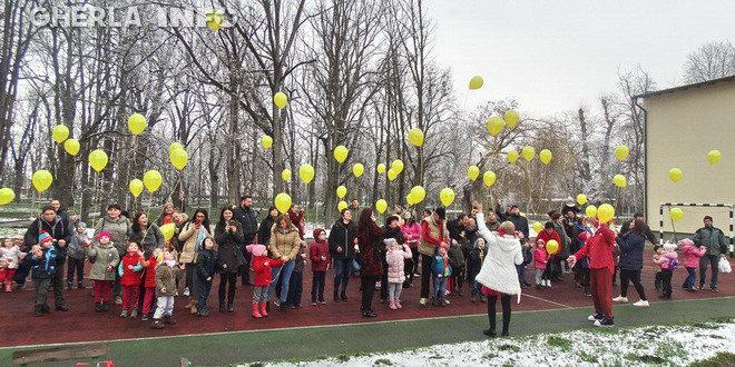 gradinita casuta fermecata gherla copii baloane