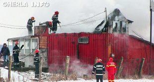 incendiu bontida pompieri