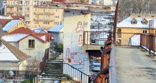 penis graffiti gara gherla