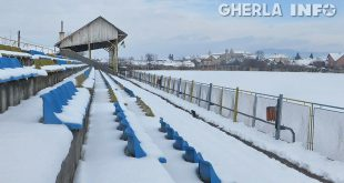 stadion gherla zapada iarna tribuna