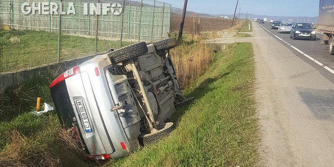accident iclod rasturnat masina honda cluj alunis