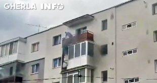 incendiu bloc gherla