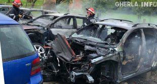incendiu masina parcare nasaud