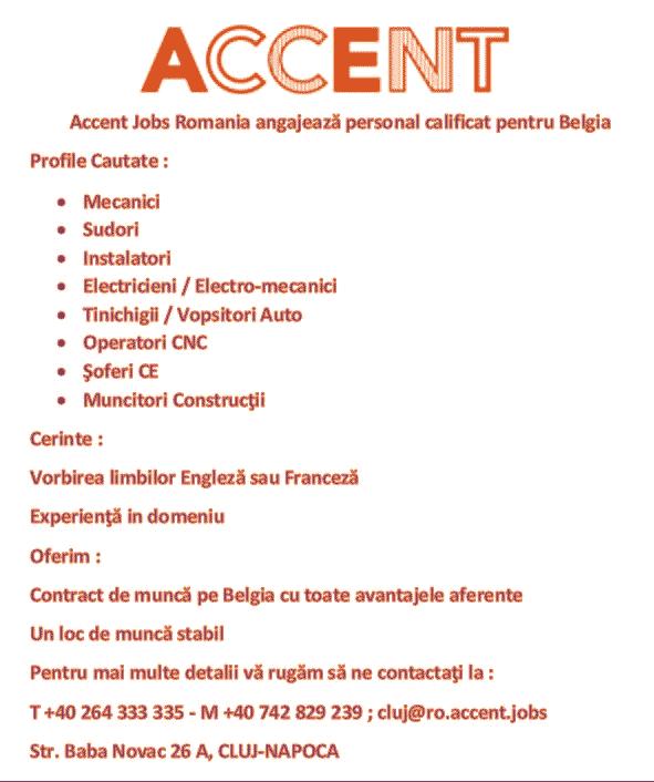 locuri de munca anunturi belgia cluj gherla dej