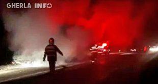 incendiu masina apahida cluj