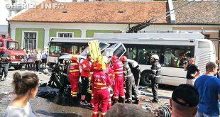 accident cluj troleibuz rasturnat skoda motilor smurd isu pompieri