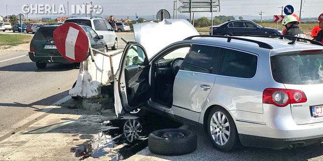 accident apahida sens giratoriu cluj parapet pompieri cluj dej