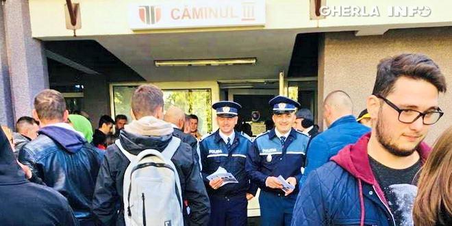 politie camin studenti cluj