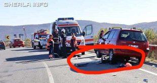 accident catcau motocicleta peugeot ambulanta pompieri