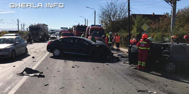 accident jucu pompieri cluj