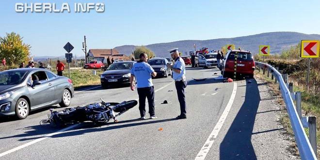 accident motociclist catcau cluj