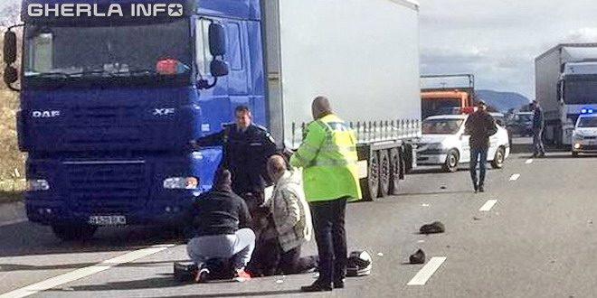 accident tir autostrada politie a3 cluj