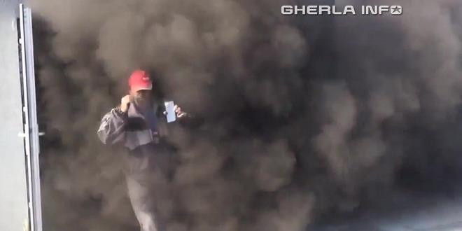 incendiu cluj bloc fum
