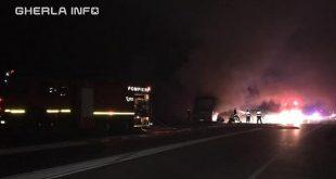 incendiu noapte sosea pompieri cluj