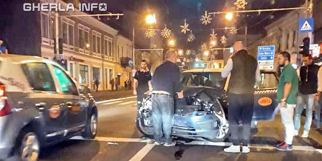 accident cluj taxi land rover