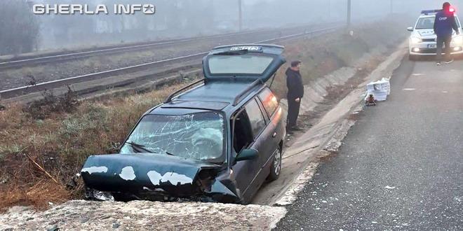 accident livada masina sant cluj gherla