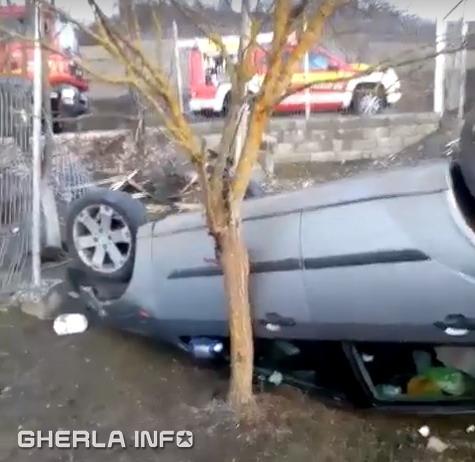 accident bont masina rasturnata sic