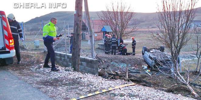 accident bont sacalaia rasturnat pompieri dje politie gherla
