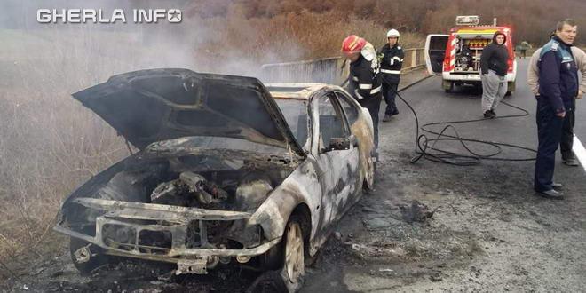 incendiu masina alunis pompieri dej cluj