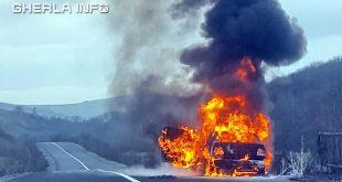 masina incendiu alunis cluj
