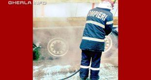 pompier incendiu roti tir cluj apahida