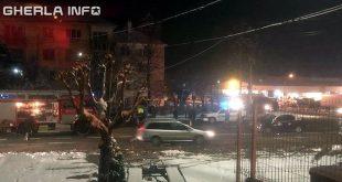 accident gherla strada clujului pompieri politia