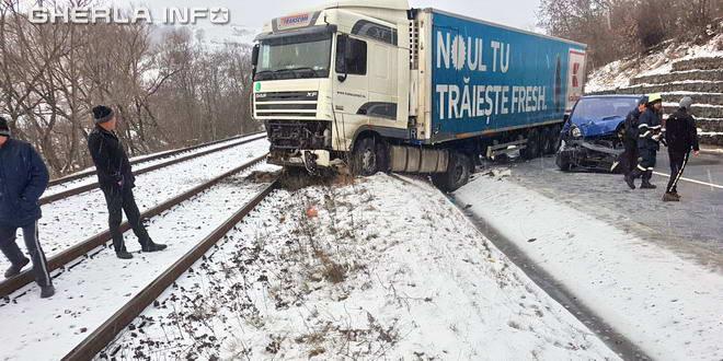 accident tir bologa cale ferata cluj