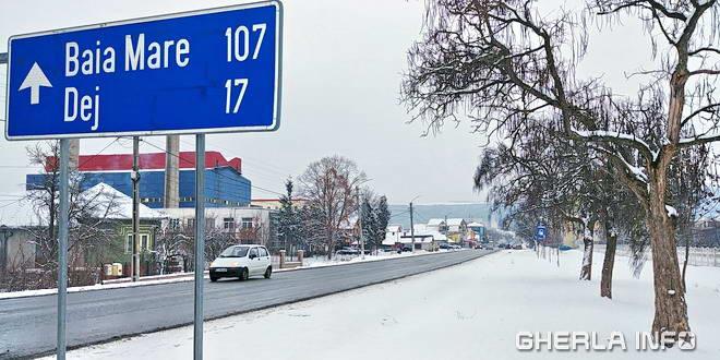 gherla iarna zapada strada clujului
