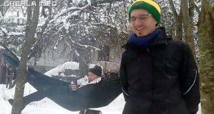 iarna hamac padure