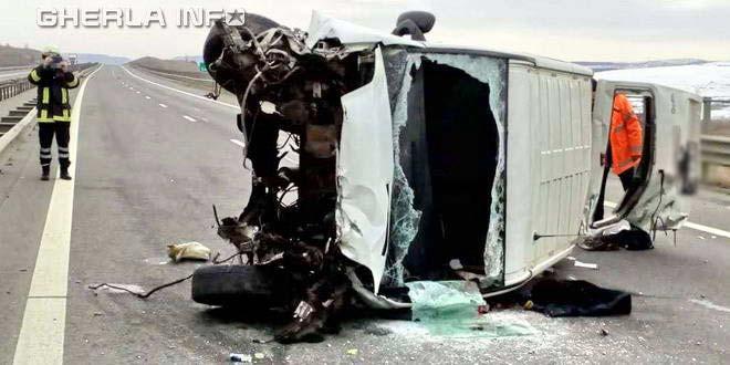accident cluj autostrada a3 mures microbuz tir