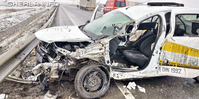 accident apahida cluj masina parapet