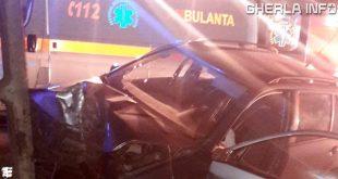 accident iclod bistrita masina stalp cluj skoda ambulanta