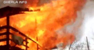 incendiu casa cluj